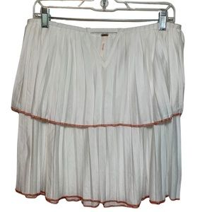 Free People Strapless White Ruffled Top (Sz: SP)